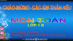 Video dạy họcToán 1